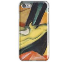 Vintage famous art - Franz Marc - Yellow Cow - German Landscape  iPhone Case/Skin
