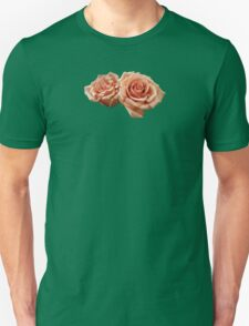 Two Peach Roses Unisex T-Shirt