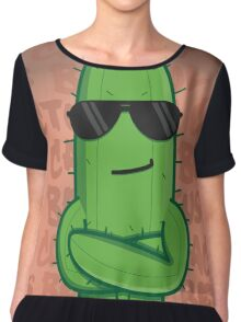 Just A Cool Cactus Chiffon Top
