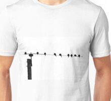 Nine Birds on a Wire Unisex T-Shirt