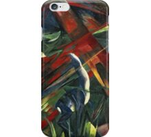 Franz Marc - Animals In A Landscape .German Landscape iPhone Case/Skin