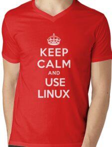 Keep Calm and You Linux T-Shirt Mens V-Neck T-Shirt