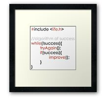 Algorithm of success Framed Print