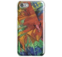 Vintage famous art - Franz Marc - Animals In A Landscape iPhone Case/Skin
