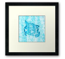 Cloudy Space Refractive Kitten Framed Print