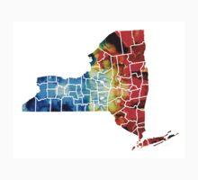 New York - Map By Sharon Cummings Kids Tee