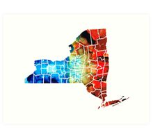 New York - Map By Sharon Cummings Art Print