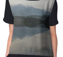 Snowdon from llyn Dywarchen Chiffon Top