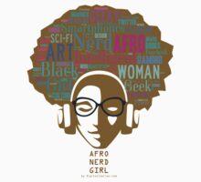 Afro Girl Nerd Kids Tee