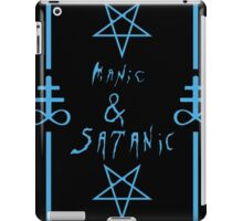 Manic & Satanic (Blue) iPad Case/Skin