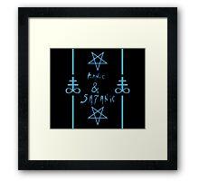 Manic & Satanic (Blue) Framed Print
