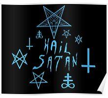Hail Satan (Blue) Poster