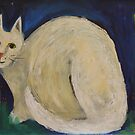 White Cat in a Midnight Garden by Saren Dobkins
