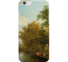 DE LA RIVE, PIERRE LOUIS (Geneva  Presinge) Crossing by ferry.  iPhone Case/Skin