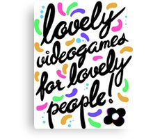 Hovergarden - Lovely Videogames for Lovely People Canvas Print