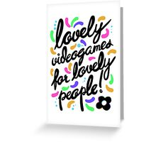 Hovergarden - Lovely Videogames for Lovely People Greeting Card