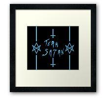 Team Satan (Blue) Framed Print