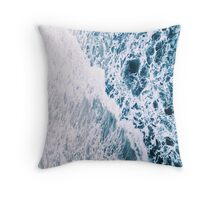 White Waves Throw Pillow