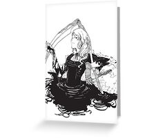 Black, white & black Greeting Card