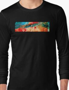Life Eternal Red And Green Abstract Long Sleeve T-Shirt