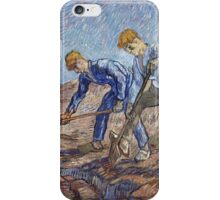 Vincent Van Gogh - The Diggers. Van Gogh famous painting. Van Gogh impressionism art iPhone Case/Skin