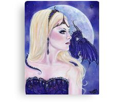 Adelina and the dragons moon by Renee Lavoie Canvas Print