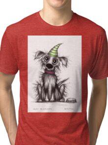 Fluffy the cute puppy Tri-blend T-Shirt
