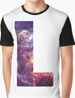 L nebula stars pattern  Graphic T-Shirt