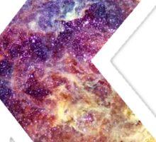 K nebula stars pattern  Sticker
