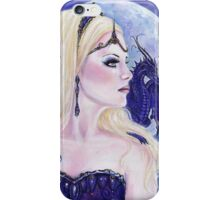 Adelina and the dragons moon by Renee Lavoie iPhone Case/Skin