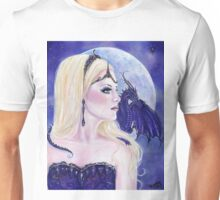 Adelina and the dragons moon by Renee Lavoie Unisex T-Shirt