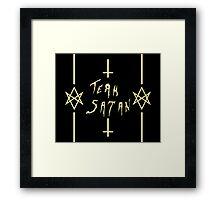 Team Satan (Yellow) Framed Print