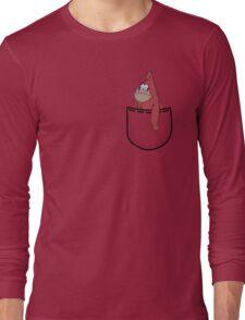 Caveman Patrick (Caveman Spongebob Meme) Pocket Long Sleeve T-Shirt