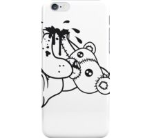 decapitated head drops polar spatter blood disgusting demolished death murder headless teddy bear sitting horror halloween evil iPhone Case/Skin