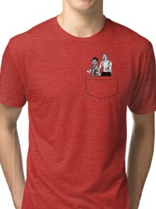 Haikyuu!! Tanaka and Nishinoya Pocket  Tri-blend T-Shirt
