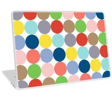 colorful circles of color in pastel Laptop Skin