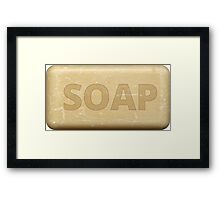 Soap iphone-case Framed Print