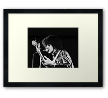 Phil Lynott in London Framed Print