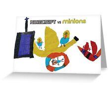Yellow Critters vs Block Headed Folk Greeting Card
