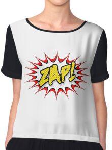 Zap Cartoon pop art Chiffon Top