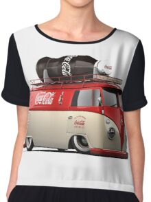 vw-red-volkswagen Chiffon Top