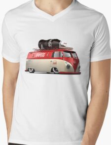 vw-red-volkswagen Mens V-Neck T-Shirt
