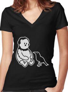 Winnie the Poe - Poe, der Bär Women's Fitted V-Neck T-Shirt