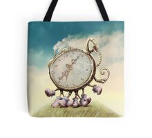 Cute Walking watch, wonderland Tote Bag
