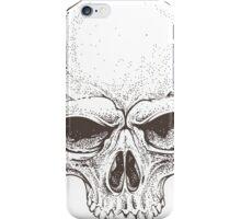 Realistic skull illustration in black & white iPhone Case/Skin