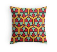 Honeycombs triangles and other shapes pattern Throw Pillow