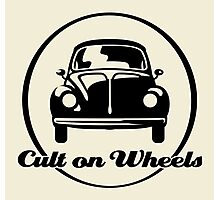 Beetle - Cult on Wheels (black) Photographic Print