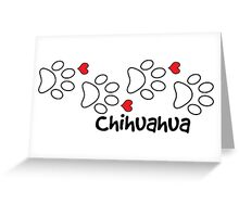 DOG PAWS LOVE CHIHUAHUA DOG PAW I LOVE MY DOG PET PETS PUPPY STICKER STICKERS DECAL DECALS Greeting Card