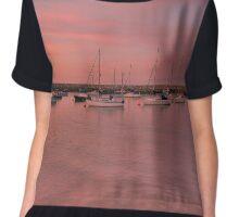 Midsummer sunset,Rhos On Sea Chiffon Top