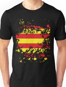 Catalonia Flag Ink Splatter Unisex T-Shirt